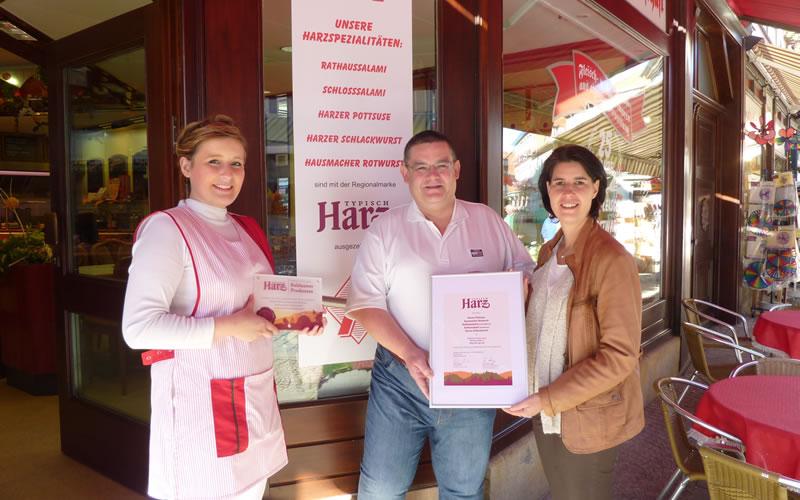 Fleischerei Leiste ausgezeichnet mit Typisch Harz